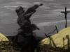 Attacco alla trincea, computergrafica di Lily Bonner (Meudon, Francia) e foto d'epoca rappresentante soldato tedesco - rielaborazione di Alessndro Gualtieri