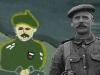 Dipinto di Nada Saoudi Mans (Bruxelles - Woluwe-St-Lambert) e foto di soldato scozzese della Grande Guerra - rielaborazione di Alessandro Gualtieri