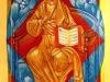 Salvatore tra le potenze, 2016 - tecnica tradizionale dell'icona (legno, bisso di lino, oro zecchino, tempera all'uovo con pigmenti antichi) - cm. 40x30