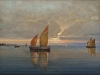 Marina al tramonto, 2015 - olio su tavola - cm. 35x25