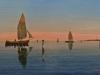 Vele sul mare, 2015 - olio su tela - cm. 500x30