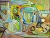 Piccolo cantiere, 1946 - olio su tela - cm 66x54-24