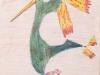 L'uccello dell'Inferno - disegno per i nipoti Piero e Giorgetta, 1958 tecnica mista su carta cm 30x21