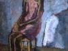 Alice Psacaropulo - Figura seduta, anni '50 - cm 54x39