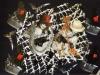 Girotondo dell'uomo nero - collage fotografico - cm 50x70
