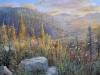 Dal sentiero di montagna, 2015 - olio su tela - cm 50x70