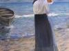 Passeggiata sulla spiaggia, 2015 - olio su tela - cm 90x60