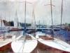 Regina Porip - Spiaggia portuale - 2011 - cm. 120x080 - computergraphic su tela