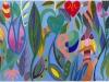 La giungla, 2018 - acrilico su cartoncino - cm 28x38