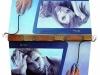 Intercomunicabilit@' del nostro tempo, 2012 - olio su tela, applicazioni materiche e congegno elettronico - cm. 60x50