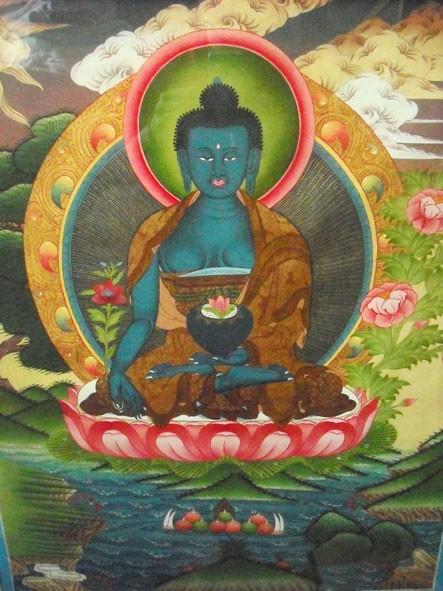 Thangka: mostra dei dipinti dei monaci tibetani