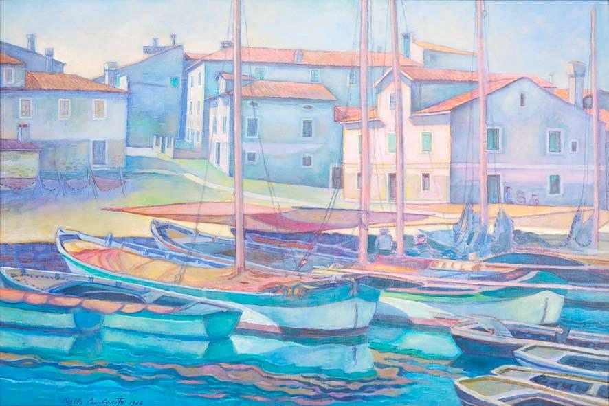 Capodistria porticciolo di Bossedraga, 1996 - olio su tela - cm 100x70.jpg