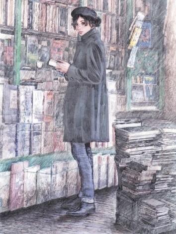 Furio Bomben - Laura e i libri - 2011 - tecnica mista