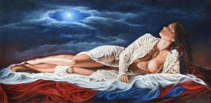 Ida Marottoli -  Chiaro di luna, 2012 - olio su legno