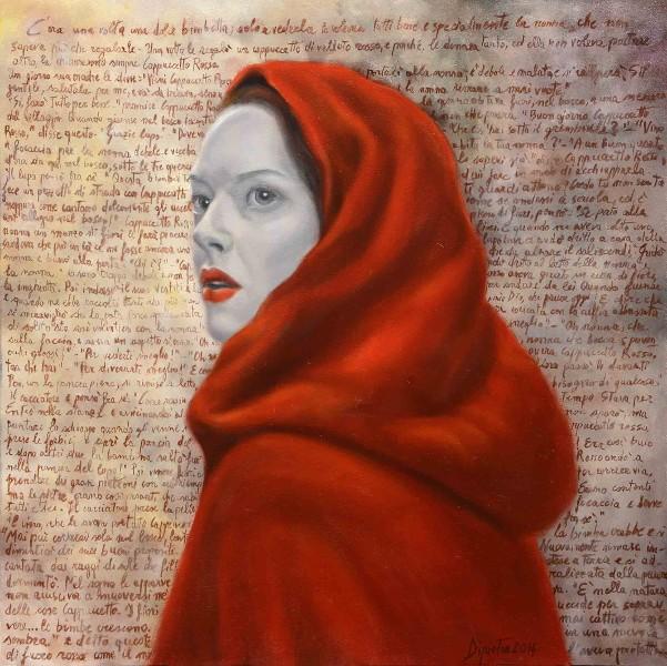 Cappuccetto rosso, 2014 - olio su tela - cm 50x50