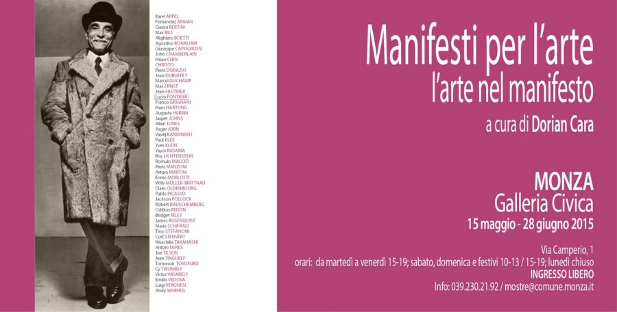 Manifesti per l'arte, l'arte nel manifesto