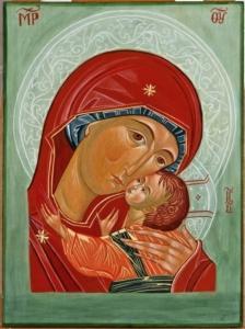 Vergine della Tenerezza, 2008 - tempera all'uovo su tavola - cm. 40x30