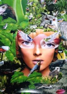 L'anima vola - collage fotografico - cm. 50x35