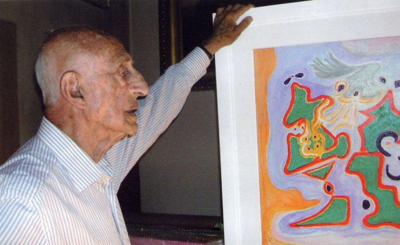 Gillo Dorfles ritratto nei primi anni 2000
