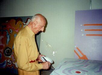 Gillo Dorfles a Paestum, 2001