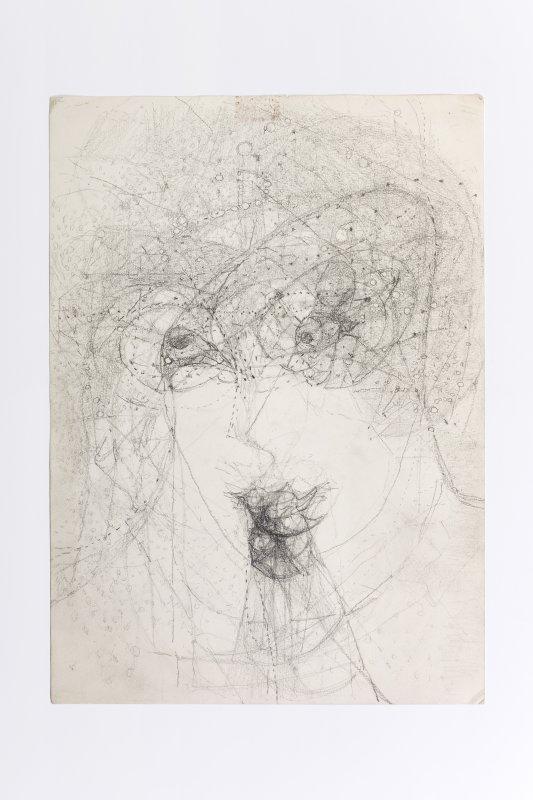 Marisa Merz Senza titolo, S.D. Grafite su carta, 34,8x24,8 cm Courtesy Archivio Merz, ph credit Renato Ghiazza
